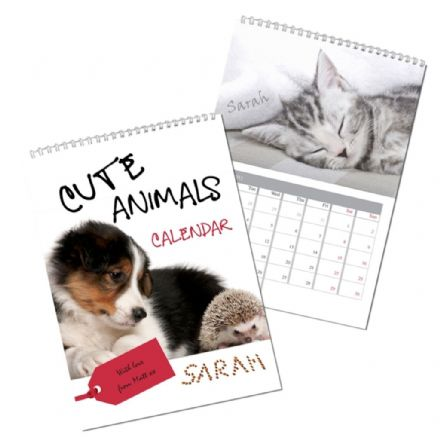 Personalised Calendar - Cute Animals